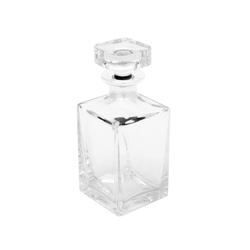 Brillibrum Dekanter Whiskykaraffe Kristallglas mit Echtsilber Weinbrand Flasche Whiskey Dekanter Kristall & Silber Whiskyflasche Kristallglasflasche mit 1000er Feinsilber Glas Cognac & Likör