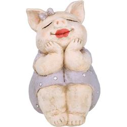 GILDE Dekofigur Schwein Rosalie träumend (1 Stück), Tierfigur, Höhe 18,5 cm