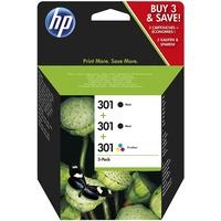 HP 301 2x schwarz + CMY
