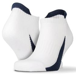 Sneaker Sports Socks (3 Paar Pack) | Spiro Whte/Navy L/XL (42/46)