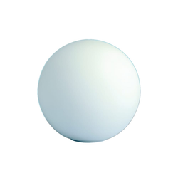 Wofi Tischleuchte Glaskugel in weiß, 20 cm