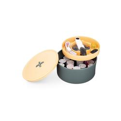 Navaris Griff, Nähset 52 Teile Nähzubehör - Nähkasten Nähkästchen Nähkorb - Nähzeug Set inkl. Nadel Faden Schere Garn - Reisenähset Knopf Design