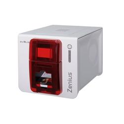 Zenius Expert- Farb-Plastikkartendrucker, rot, USB und Ethernet