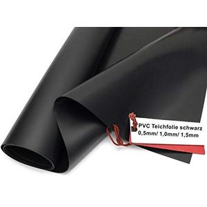 Sika Premium PVC Teichfolie schwarz, Stärken: 0,5 mm / 1,0 mm / 1,5 mm (Made in Germany, 15 Jahre Garantie) (PVC Stärke0,5 mm, 1 m x 2 m)