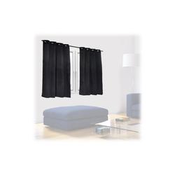 Vorhang Schwarze Vorhänge 2er Set, relaxdays 135 cm x 120 cm
