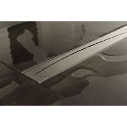 CLP Duschrinne Marisol, mit Siphon und Edelstahlabdeckung 0 cm x 1200 cm x 110 cm