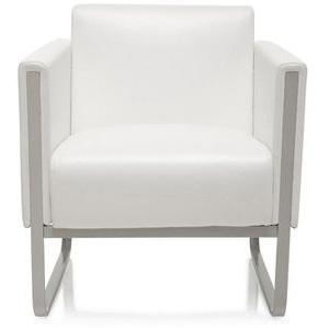 hJh-OFFICE Loungesessel ARUBA, 713321, Kunstleder, weiß