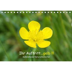 Ihr Auftritt...gelb !!! Gelbblühende Naturschönheiten (Tischkalender 2021 DIN A5 quer)
