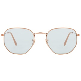 Ray Ban Hexagonal Flat Lenses RB3548N cooper / light blue