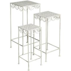 Ambiente Haus Beistelltisch, (Set, 3 St.) weiß Beistelltische Tische Beistelltisch