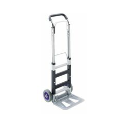 Certeo - Alu-Sackkarre - klappbar, Tragfähigkeit 120 kg - Tragfähigkeit 120 kg