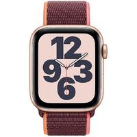 Apple Watch SE GPS + Cellular 44 mm Aluminiumgehäuse gold, Sport Loop pflaume