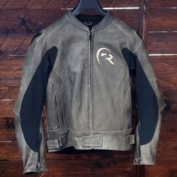 RevMoto Motorradjacke Leder beige SALE