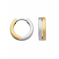 Adelia´s Paar Creolen 925 Silber Ohrringe / Creolen Ø 13,3 mm, Silberschmuck für Damen
