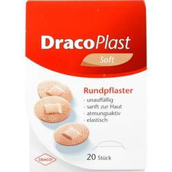 DRACOPLAST Soft Pflaster 2,2 cm rund hautf. 20 St.