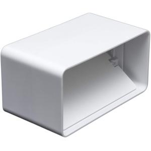 Kanalverbinder mit Rückstauklappe für 55 x 110 Flachkanal Lüftungssysteme. Abluftkanal oder Zuluftkanal. Hohe Qualität ABS-Kunststoff (FS55-RC)