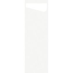 DUNI Sacchetto Serviettentaschen Airlaid SLIM, Praktische Bestecktasche, 1 Karton = 4 x 60 Stück = 240 Stück, weiß