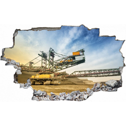 DesFoli Wandtattoo Kohle Tagebau Abbau Bagger C2431