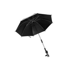 kueatily Sonnenschirm Universal Sonnenschirm Sonnenschutz für Kinderwagen und Buggy UV-Schutz 75 cm Sonnenschirm 360° verstellbar für Rund- oder Ovalrohrschirm Kinderwagen Flexibler Schirm schwarz