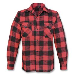 Mil-Tec Holzfällerhemd Thermo rot, Größe XL