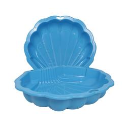ONDIS24 Sandkasten Ondis24 Sandkasten Wassermuschel blau 2-TLG., ca. 102 (L) x 88 (B) x 20 (H) cm
