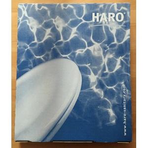 Haro WC-Sitz mit Edelstahlscharnieren weiß Klodeckel Toilettendeckel FastFix