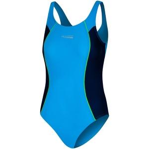 Aqua Speed Badeanzug Kinder Mädchen | Kinderbadeanzug Mehrfarbig | UV Schwimmanzug Einteiler | Kids Swimsuits Schwimmen | Sport | Sportbadeanzug | Gr. 158 cm | Blue – Navy | Luna