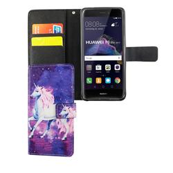 Handyhülle Tasche für Handy Huawei P8 Lite 2017 Einhorn Magic