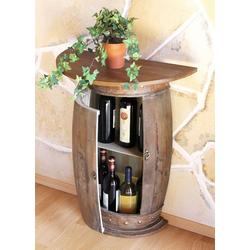 DanDiBo Weinregal Wandtisch Tisch Weinfass 0373-R Braun Schrank Weinregal Fass 73 cm Beistelltisch braun