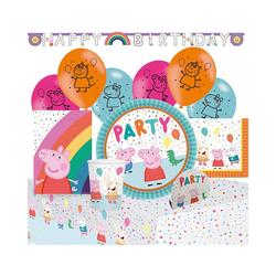 Amscan Kindergeschirr-Set Partyset Peppa Pig, 56-tlg.
