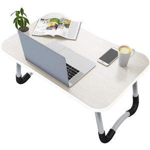 Vasen Laptoptisch fürs Bett, Klappbar Laptop Betttisch Laptoptisch, Betttablett für Surfen Arbeiten auf dem Sofa, Kompatibel mit Laptops bis zu 17 Zoll (Weiß)