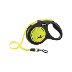 flexi Flexileine New Neon Gurt, Kunststoff gelb M - 4 cm x 5 m