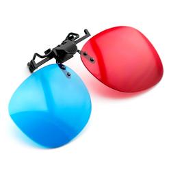 PRECORN 3D Brille Clip-On rot/blau (3D-Anaglyphenbrille) für Brillenträger hochwertige 3D Brille für 3D PC-Spiele, 3D Bildern, 3D Filme, 3D (z.b. Sky 3D), 3D Projektion, 3D Video Heimkinosystem