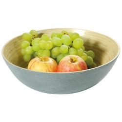Kesper Obst- und Gebäckschale Bambus, Eignet sich ideal zum Servieren von Obst oder Süßigkeiten, Maße (H x B x T): 8 x 25 x 25 mm, betonoptik