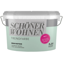 SCHÖNER WOHNEN FARBE Wand- und Deckenfarbe Trendfarbe Macaron, matt, 2,5 l grün