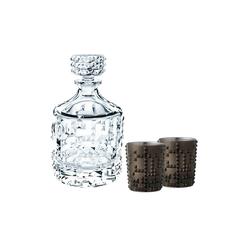 Nachtmann Whiskyglas Punk Set Karaffe + 2 Becher grau (3-tlg)