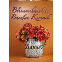 Blumenschmuck in Bunzlau Keramik (Wandkalender 2021 DIN A2 hoch)