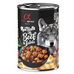 alpha spirit Dog MeatBalls Rind mit Salbei 400g (Menge: 12 je Bestelleinheit)