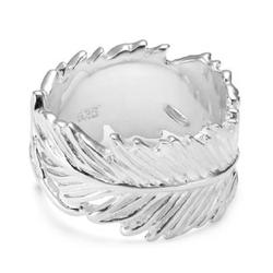 Vinani Silberring, Vinani Ring Feder Arizona glänzend massiv Sterling Silber 925 RFE 52 (16.6)