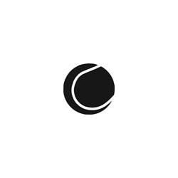 Logoschablone Tennisball
