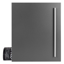 MOCAVI Briefkasten MOCAVI Box 110 Qualitäts-Briefkasten mit Zeitungsfach grau-aluminium (RAL 9007)