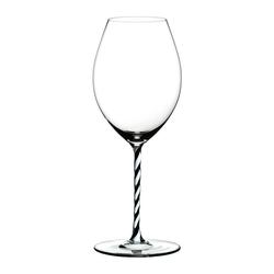 RIEDEL Glas Rotweinglas Fatto A Mano Old World Syrah B&W Twisted, Kristallglas