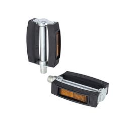 XLC Blockpedale XLC Universal Pedal Gummiblock schwarz, 9/16',Refl