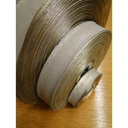 Lurexdekoband mit Drahtkante in 40 mm - 200 mtr. Rolle