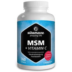 MSM HOCHDOSIERT+Vitamin C Kapseln 360 St