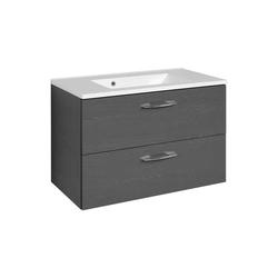 Bad Waschtisch in Graphit Grau modern