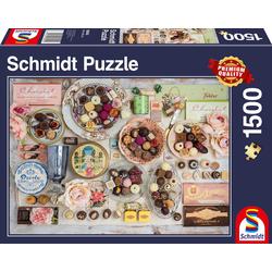 Schmidt Spiele Puzzle Nostalgie-Schokoladen, 1500 Puzzleteile