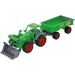 Farmer Technic Traktor + Frontschaufel + 2-Achsanhänger