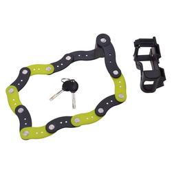 dynamic24 Faltschloss, Filmer Faltschloss + Halterung + 2x Schlüssel Fahrradschloss Rad Fahrrad Schloss