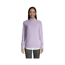 Sweatshirt mit Stehkragen, Damen, Größe: M Normal, Lila, Wolle, by Lands' End, Glyzinie - M - Glyzinie